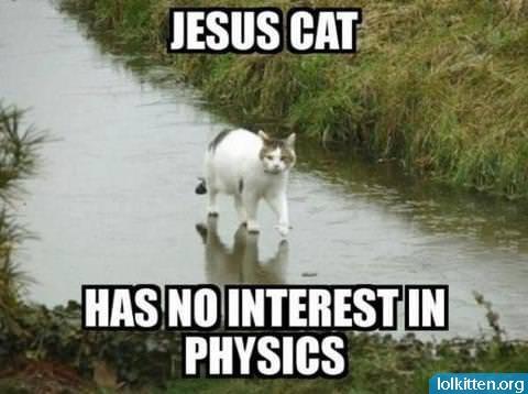 JESUS CAT - HAS NO INTEREST IN PHYSICS