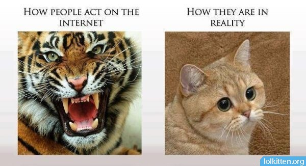 HOW PEOPLE ACT ON THE INTERNET - HOW THEY ARE IN REALITY