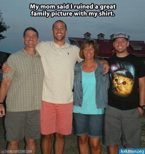 Ruined family photo