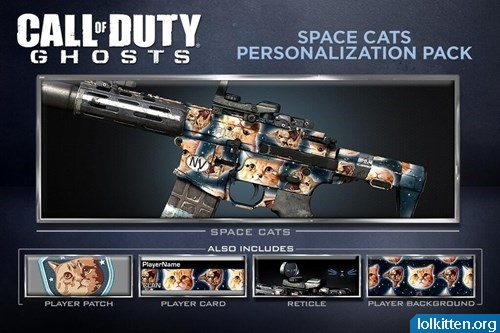 Call of Duty GHOSTS Space Cats Personalization Pack
