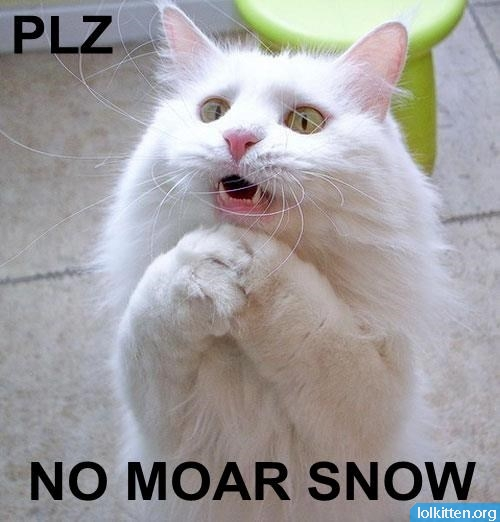 PLZ, NO MOAR SNOW